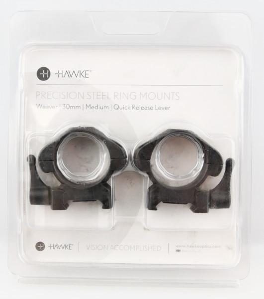 HAWKE 23016 30mm Stahl Ringmontagen Mittel für Weaver Schiene B Ware J150