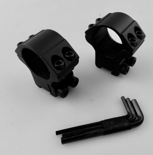 B WARE HAWKE 22101 25,4mm Ringmontage Mittel für 9-11mm Schiene C008